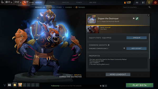 Dipper the Destroyer (Immortal TI10 Ursa)