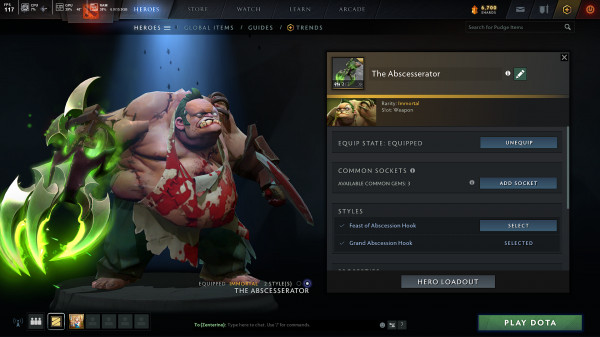 The Abscesserator (Immortal TI10 Pudge)
