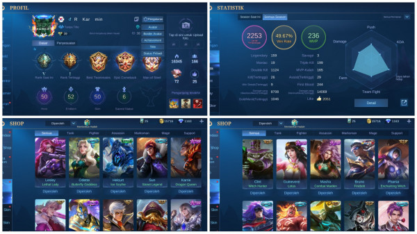 Skin Limit Hero Bruno Star Special Banyak DM 1163