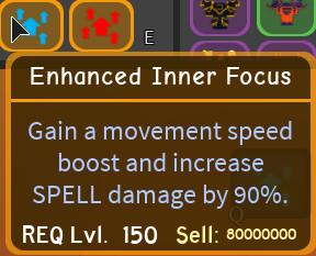 Enhanced Inner focus dungeon Quest
