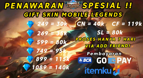 Skin 599 Diamond Mobile Legends