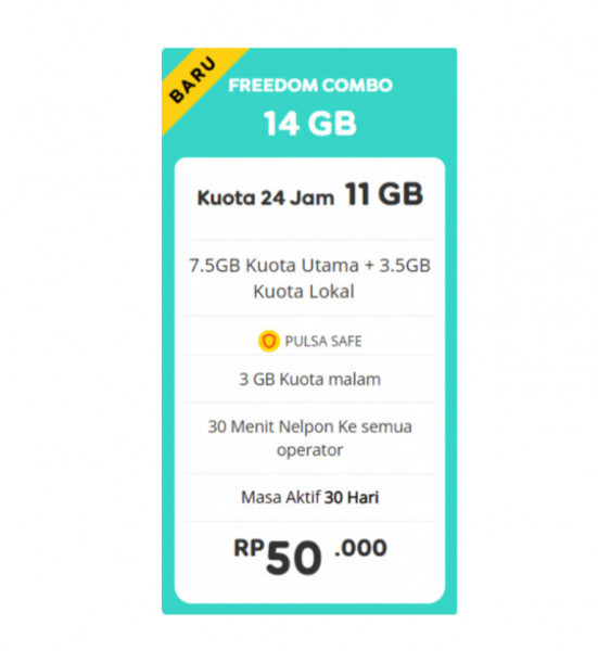 Freedom 14 GB 30 Hari