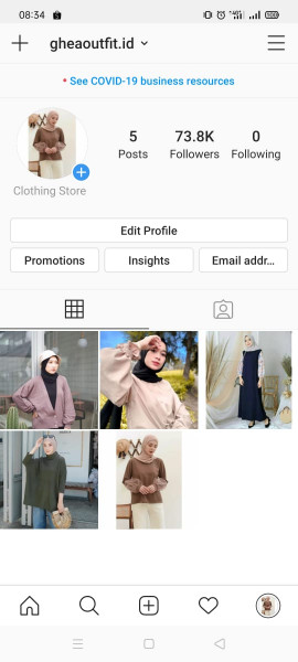 Jual Akun Instagram Followers 73K Real Aktif Indo