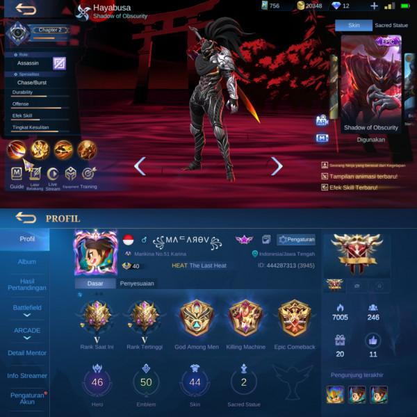 Mobile Legends Epic Limited Hayabusa|Mytic V