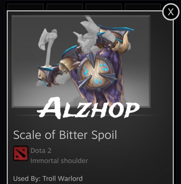 Scale of Bitter Spoil (Immortal Troll Warlord)