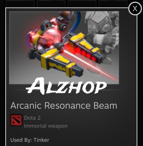 Arcanic Resonance Beam (Immortal Tinker)