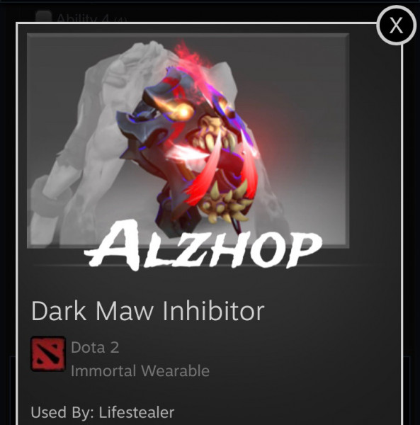 Dark Maw Inhibitor (Immortal Lifestealer)