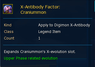 X-Antibody Factor : Craniummon