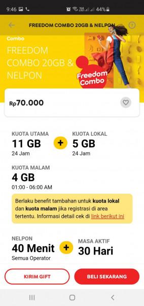 Freedom Combo 20GB