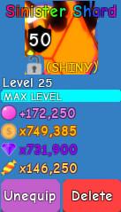 Shiny Sinister Shard (Secret) - Bubble Gum Sim