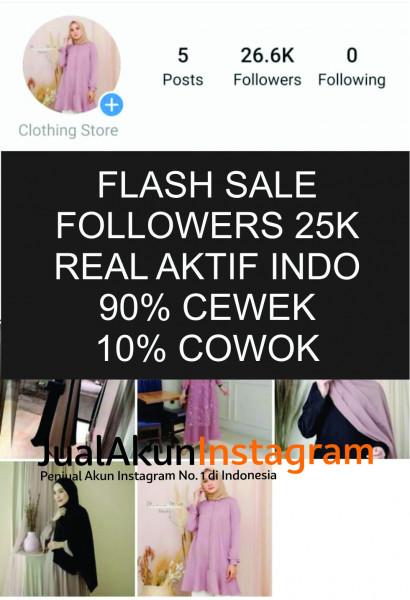 Jual Akun Instagram Followers 25K Real Aktif Indo
