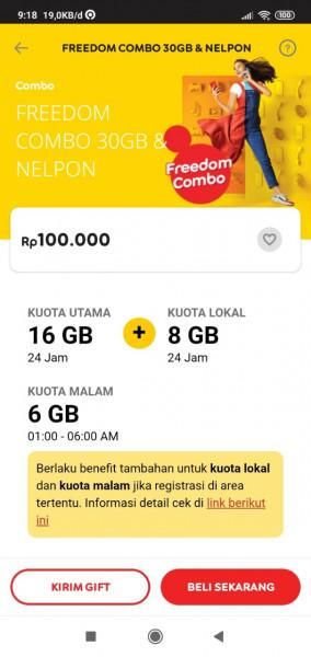 Freedom Combo 30GB