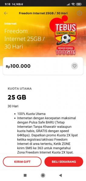 Freedom Internet 25GB