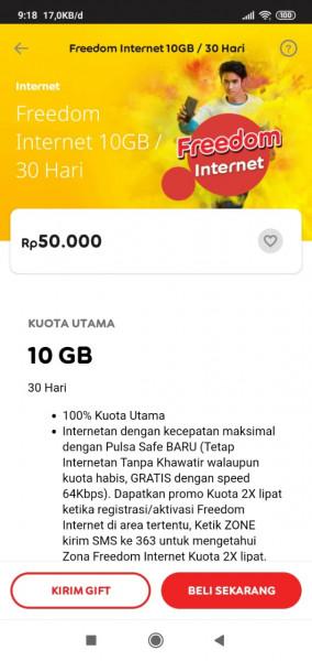 Freedom Internet 10GB