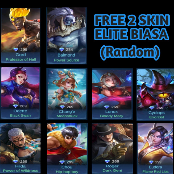 Akun Smarf Bp 70k+ Hero 8+2 ,Skin 2 + Bonus 2 Skin