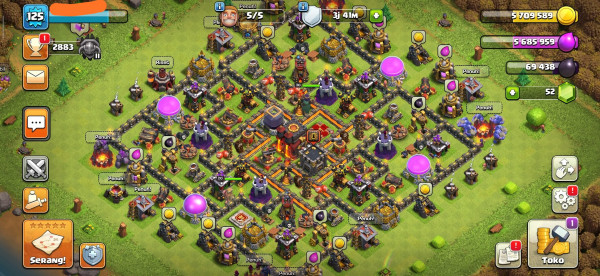 COC TH 10 MAX HERO 20-30 HARGA MURAH