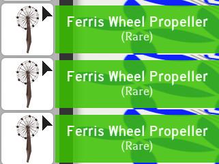 Ferris Wheel Propeller Adopt Me -LANGKA