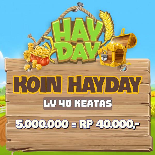 Coin Hay Day 5 Juta Level 40 Keatas
