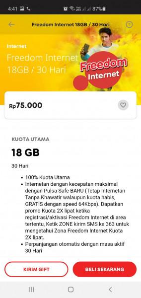 Freedom Internet 18GB