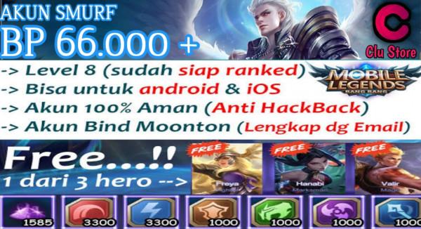 Akun Smurf BP 66.000 +