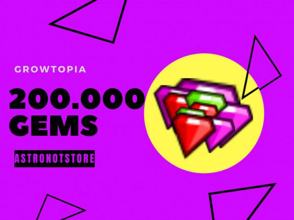 200.000 gems / 200k gems