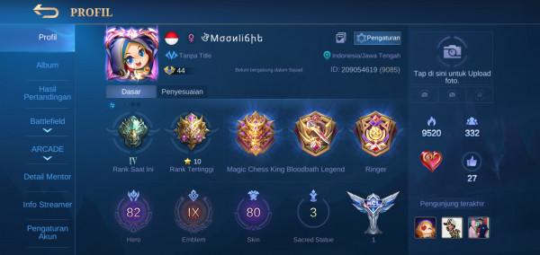 Mobile Legends Hero Banyak & Emblem All Max
