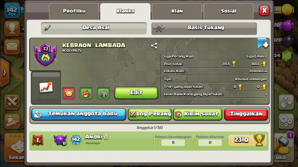 Clan Level 13 KEBRAON*LAMBADA