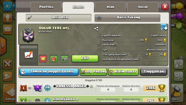 Clan Level 15 DULUR TERE mtj