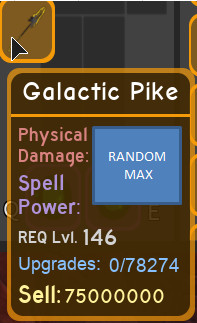 galactic pike max dungeon quest