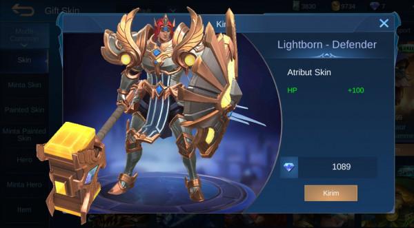 Lightborn - Defender (Tigreal Lightborn Skin)