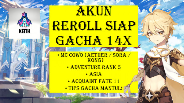 AKUN REROLL SIAP GACHA + TIPS&CARANYA! (AR5,ASIA)