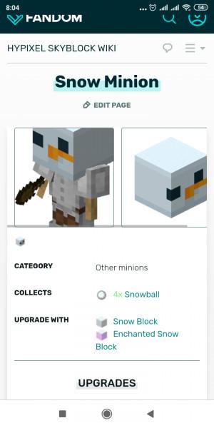 Snow minion Tier 11