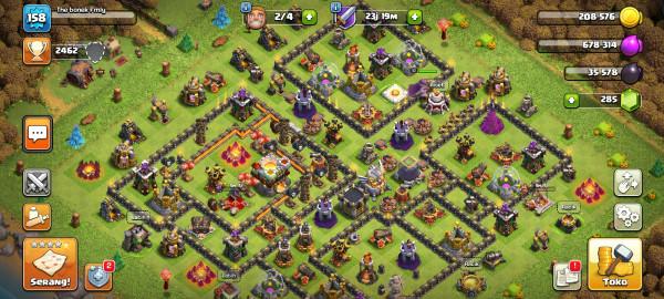 Th11 semi Hero 31-30-10 troops lumayan