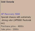 Gold Gonzola