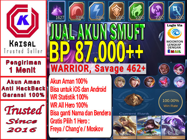 Akun Smurft BP Banyak Mantap