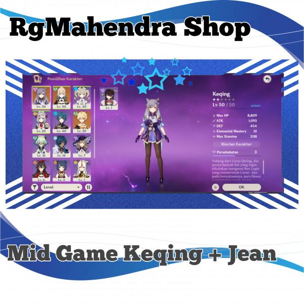 Mid Game Keqing + Jean Dkk