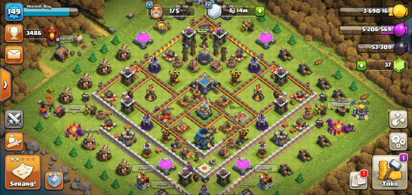 COC TOWNHALL 12 HIGH QUALITY