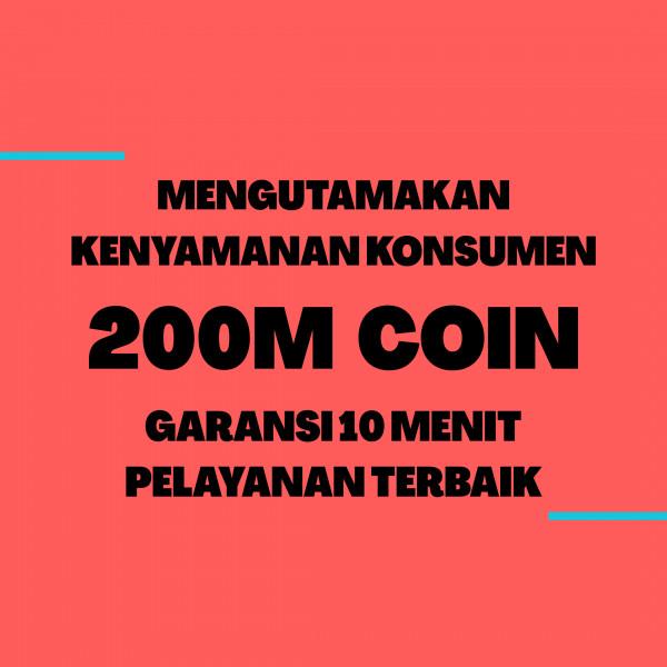Top Up 200M Koin Emas-D