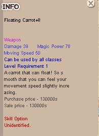 Floating Carrot+8 Movement Speed MSPD