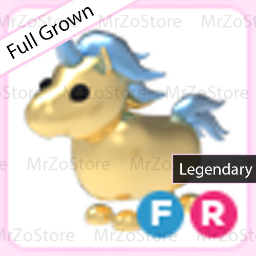 Golden Unicorn Adopt Me Pet / Pet Adopt Me - FR