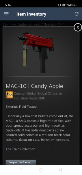MAC-10 | Candy Apple (Industrial Grade SMG)
