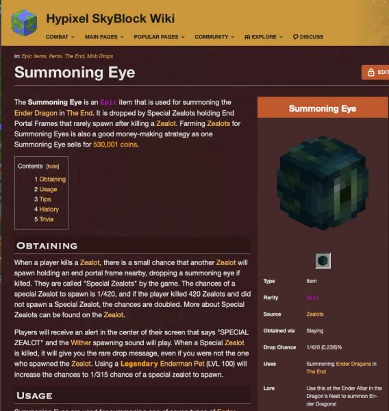 Summoning eye