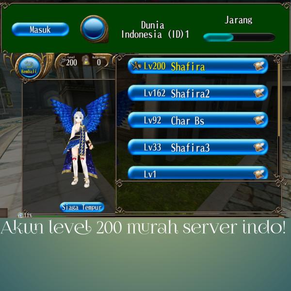 Akun Toram level 200 murah server indo!