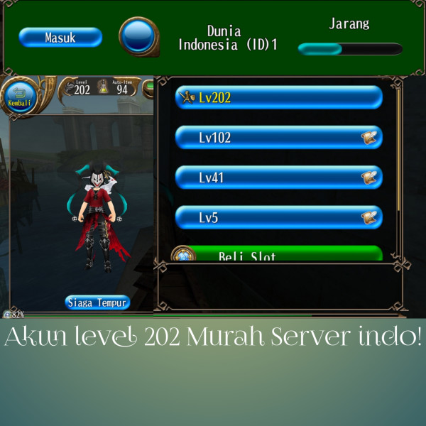 Akun Toram level 202 murah server indo!