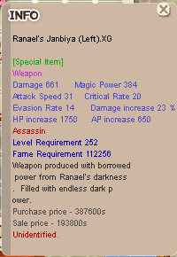 Ranael LnR Assasin XG+0