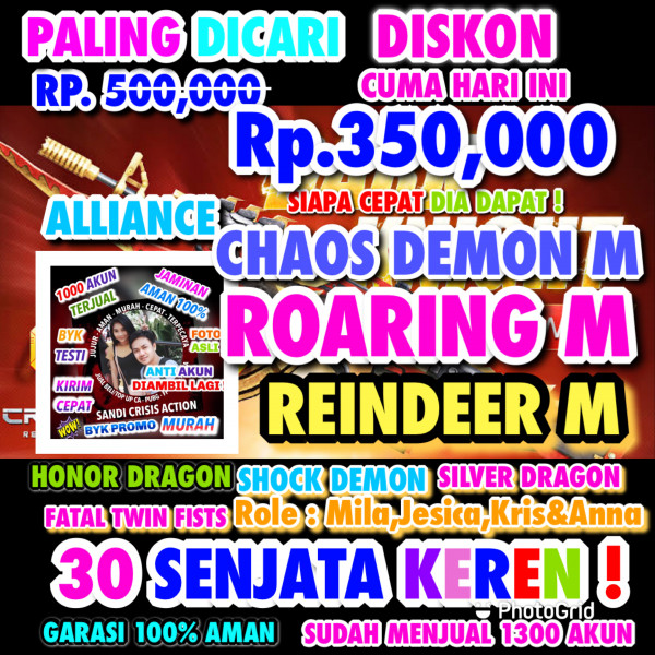 ROARING DEMON M+CHAOS DEMON M+REINDEER M 4 ROLE