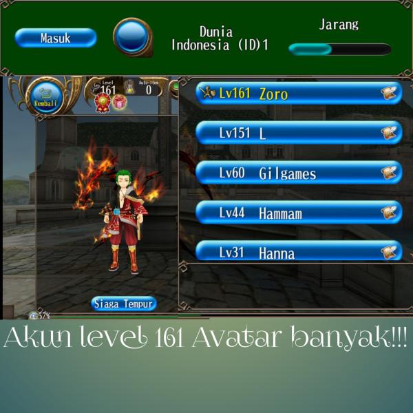 Akun Toram level 161 murah !!!!!!