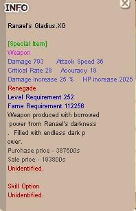 Ranael Renegade Sword .XG