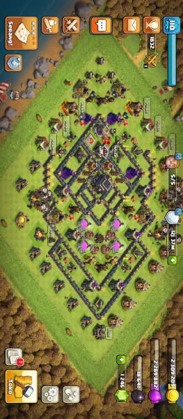 Clash of clan th 9 max