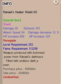 Ranael Renegade Shield .XG